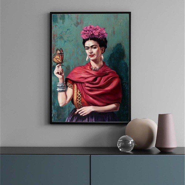 Abstract Canvas Painting frida kahlo Figure Nordic Wall Art Poster Prints Decoration