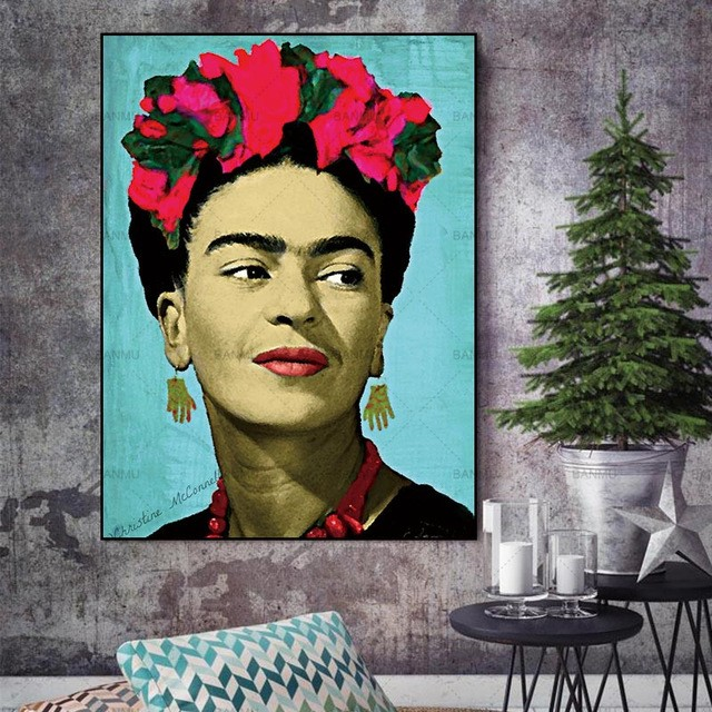 Canvas painting Wall Art Picture Wall poster decoration for living room prints Artist Frida Kahlo on canvas