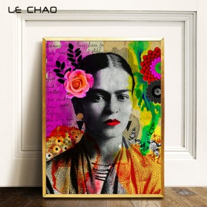 Frida Kahlo Portrait Canvas Poster and Prints