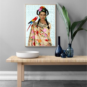 Cuadros Decoracion Frida Kahlo Parrot Printing Pop Art Canvas Paintings Poster