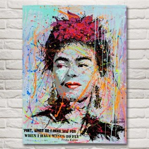 Frida Kahlo Autorretrato Abstract Art Silk Fabric Poster Print