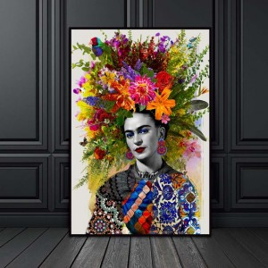 Flower Frida Kahlo Canvas Painting Frida Nordic Wall Art Poster Prints