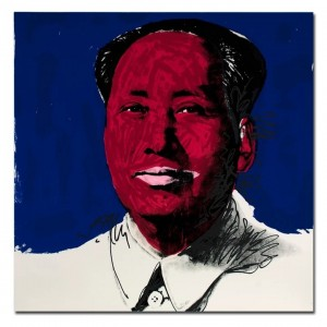 Andy Warhol Portrait Painting Mao Zedong Wall Art Canvas Painting