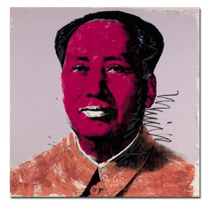 "Andy Warhol's iconic ""Mao"" series art poster"