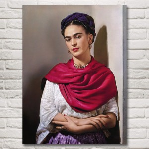 Artwork Frida Kahlo Art Silk Fabric Poster Print Home Decor