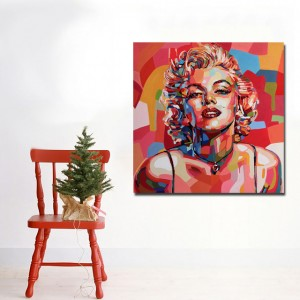 Marilyn Monroe Canvas Art Print and Poster Portrait