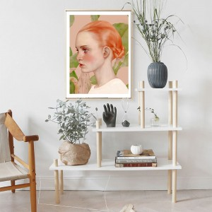 Nordic Decoration Girl Oil Painting Canvas Prints