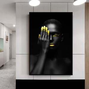 Poster Print Cool Woman Black Figure Painting